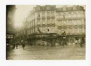 Gent: Hippoliet Lippensplein (Rond Punt), kruispunt Vlaanderenstraat, Brabantdam en Kuiperskaai: Grand Hotel: verzamelplaats voor de militairen geschikt bevonden voor actieve dienst (Kriegsverwendungsfähigen), winter 1915-1916