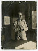 Portret van general der Kavallerie (generaal van de cavallerie) Wolfgang von Unger, Etappen-Inspekteur (etappe-inspecteur) van het Duitse Vierde Leger te Gent, 1915-1916
