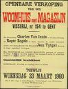 Openbare verkoop van een woonhuis met magazijn, Visserij, nr. 154 te Gent, Gent, 23 maart 1960