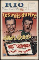 One Night in the Tropics │ Une nuit aux tropiques │ Een nacht in de tropen, Rio, Gent, 10 - 13 februari 1950