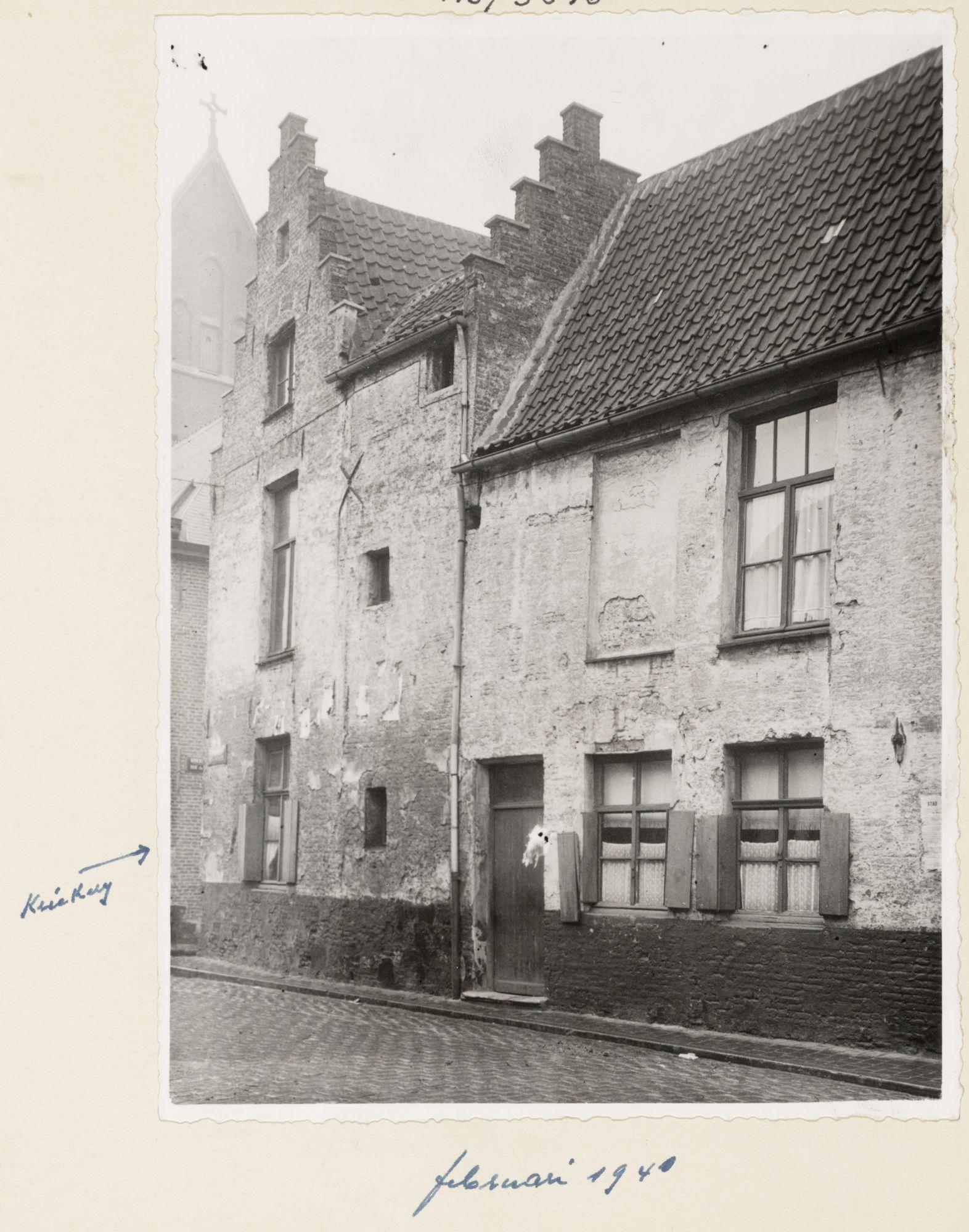 Gent: Huis op de hoek van de Kriekerij en de Molenaarsstraat