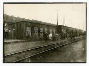 Gentbrugge: spoorwegstation Merelbeke:  materiaaldepot, 1915-1916