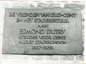Gent: Korenlei 9: Gedenkplaat, 1980