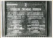 Gent: Peerstraat: Gedenkplaat, 1979