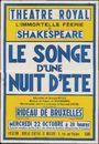 Le Songe d'une Nuit d'Eté, L'mmortelle feérie de Shakespeare: Théâtre Royal (Opera), Gent, woensdag 22 oktober om 20 uur