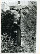 Gent: Sint Bernadettestraat: Beeld gekruisigde Christus,1935