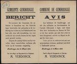 Gemeente Gendbrugge, Bericht | Commune de Gendbrugge, Avis.