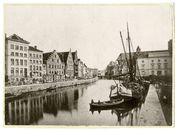 Gent: Graslei en Korenlei. Graslei met Korenstapelhuis, Tolhuisje, Korenmetershuis en Huis der Vrije Schippers