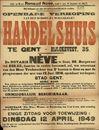 Openbare verkoop van een schoon en welgelegen handelshuis te Gent, Bijlokevest, nr.35, Gent, 12 april 1949