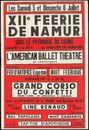 XIIe Féerie De Namur, Namen, 5 juli - 6 juli 1958