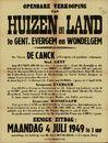 Openbare verkoop van huizen en land te Gent, Evergem en Wondelgem, Evergem, 4 juli 1949
