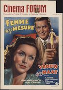 [Frau nach Maß] | Femme sur mesure | Vrouw op maat, Cinema Forum, Gent, 28 november - 4 december [1941?]