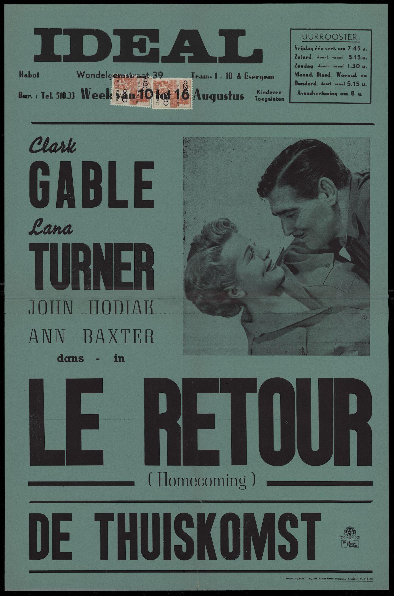 Homecoming │ Le retour │ De thuiskomst, Ideal, Gent, 10 - 16 augustus 1951