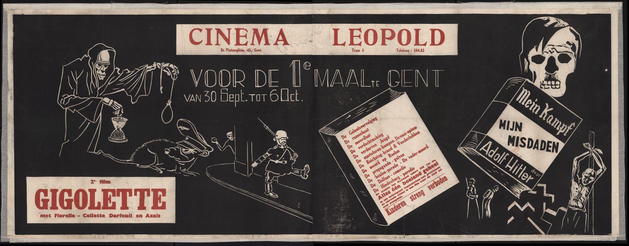 Mein Kampf | Mijn misdaden (film 1), Gigolette (film 2), Cinema Leopold, Gent