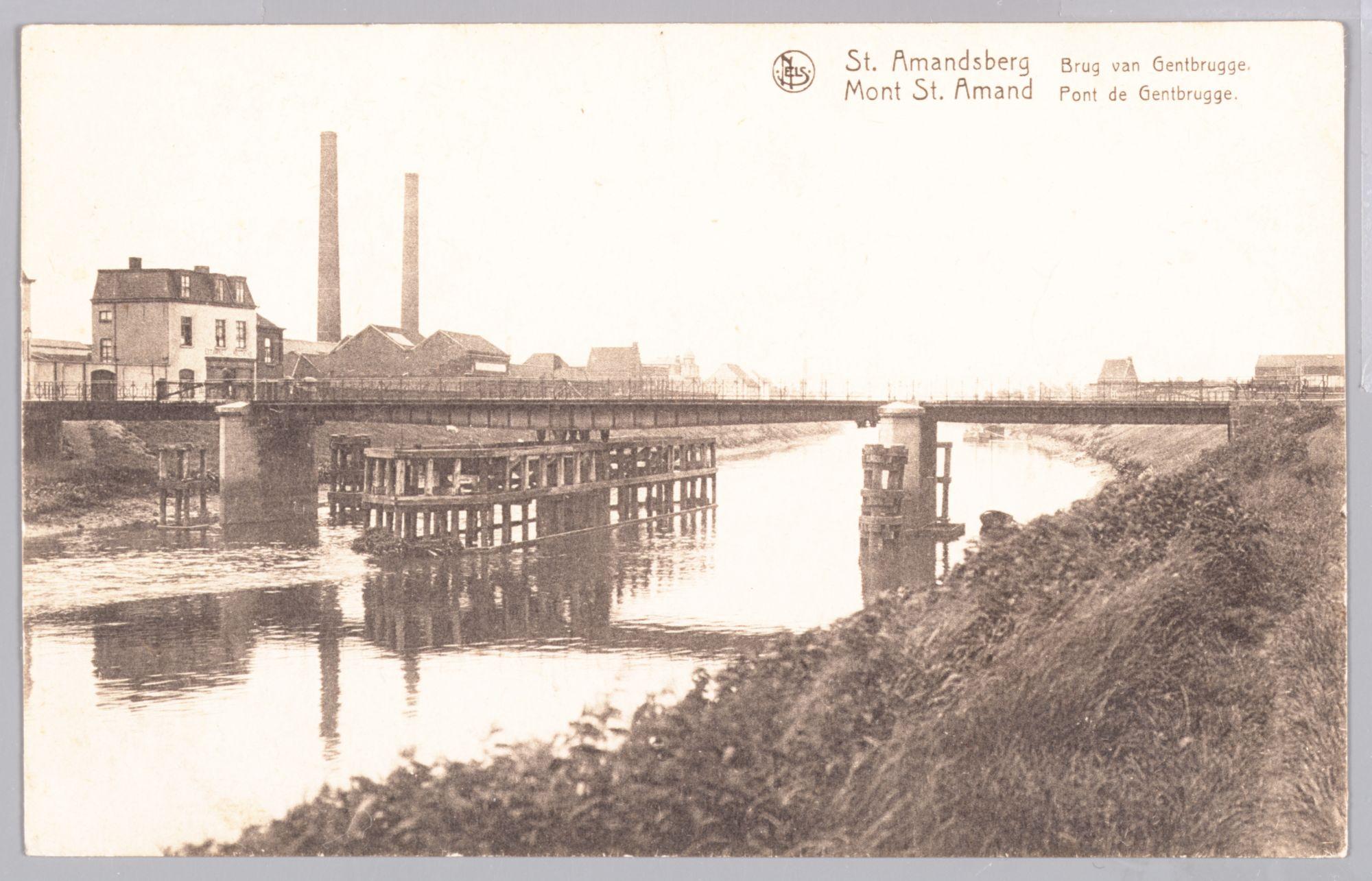 Sint-Amandsberg: Gentbruggebrug over de Schelde, met Nijverheidskaai op de achtergrond