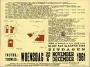 Openbare verkoop van handelshuis en 7 woonhuizen te Gent, Bijlokevest, nrs.111 en 115 - Hofstraat, nrs.57 en 59 en Lievin De Winnestraat, nrs.46, 48, 50 en 56, Gent, 6 december 1961
