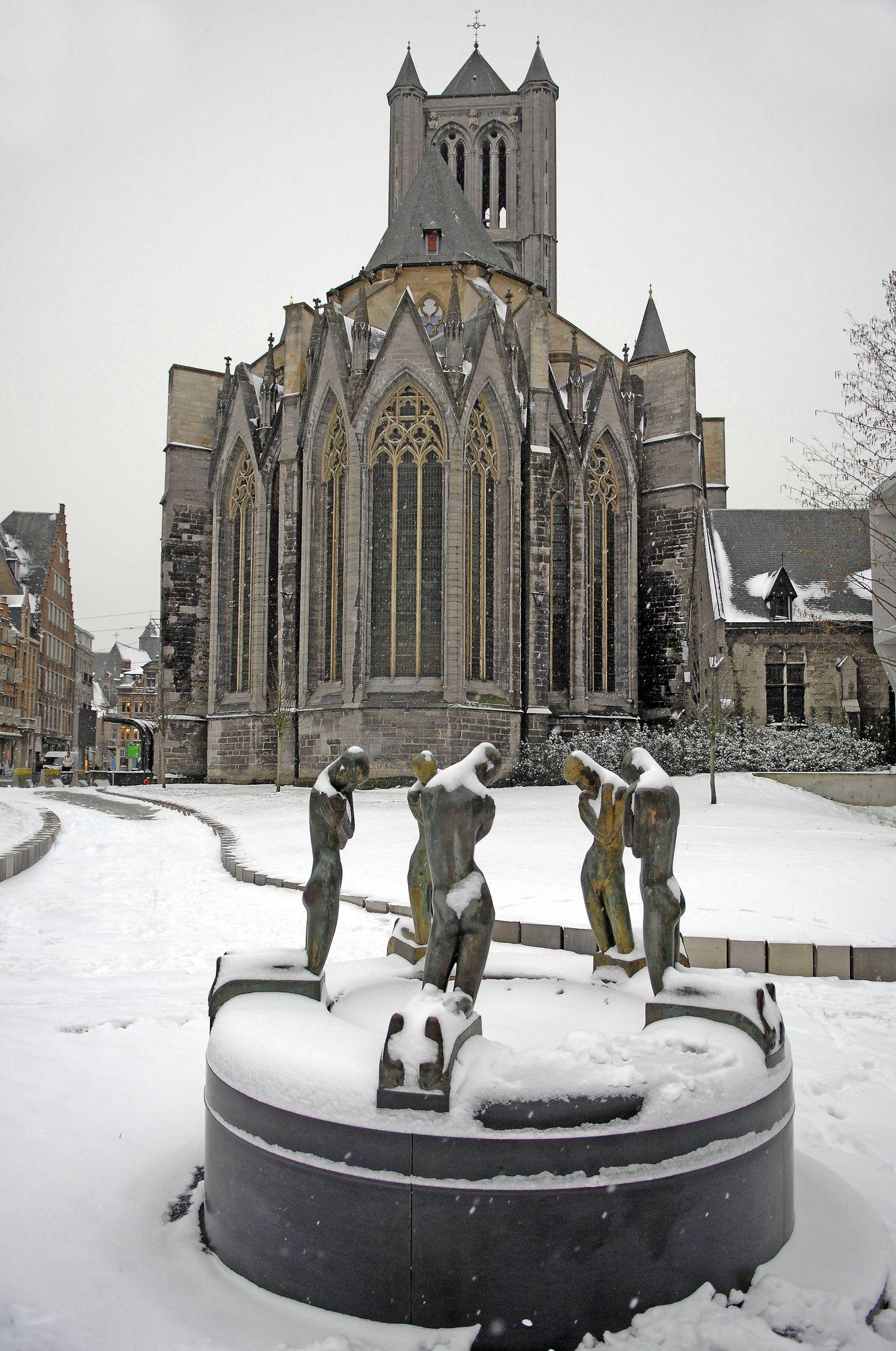 Sneeuw in Gent 06