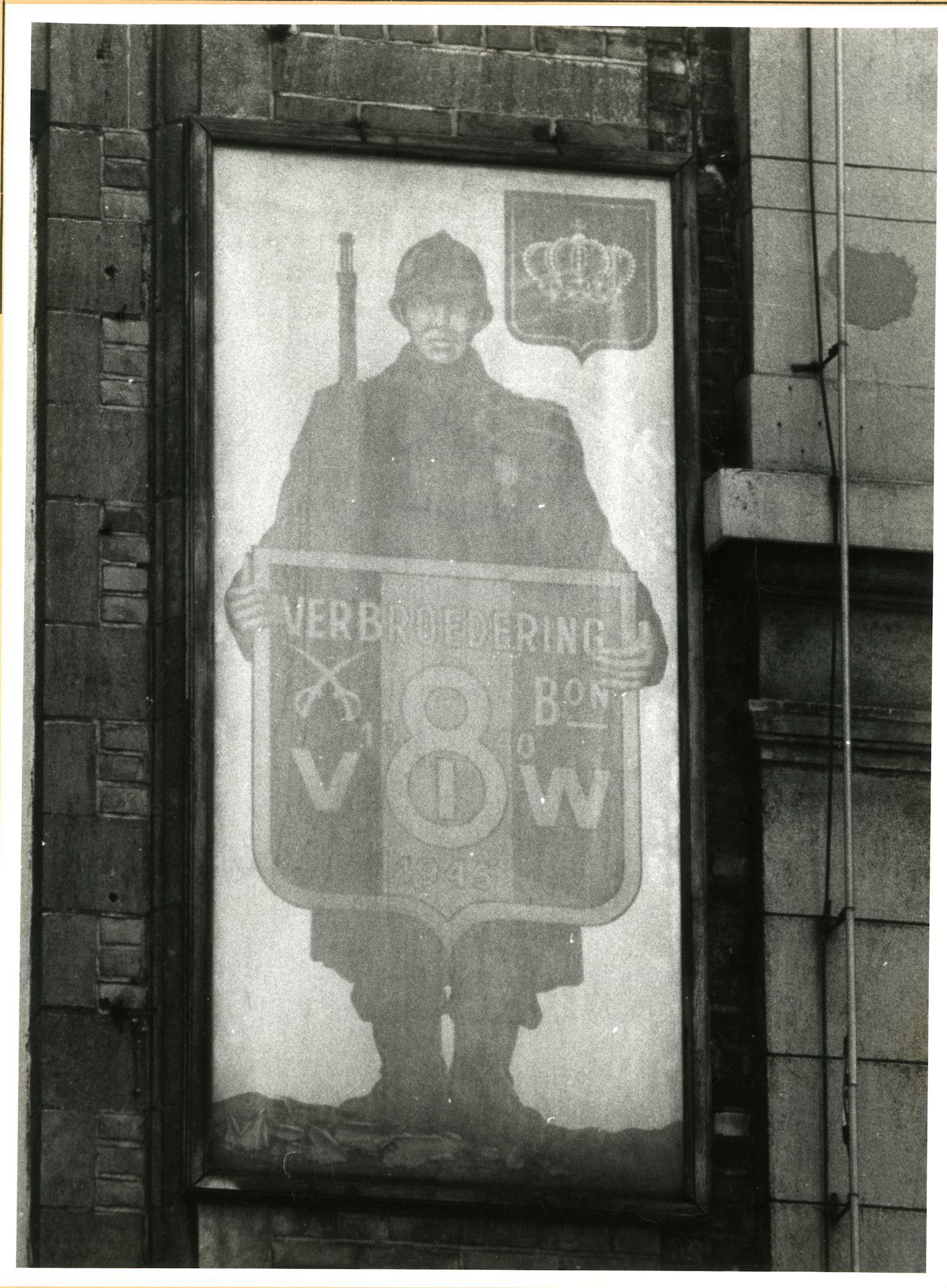Gent: Botermarkt 9: Gedenkplaat: Wereldoorlog 1 & 2, 1979