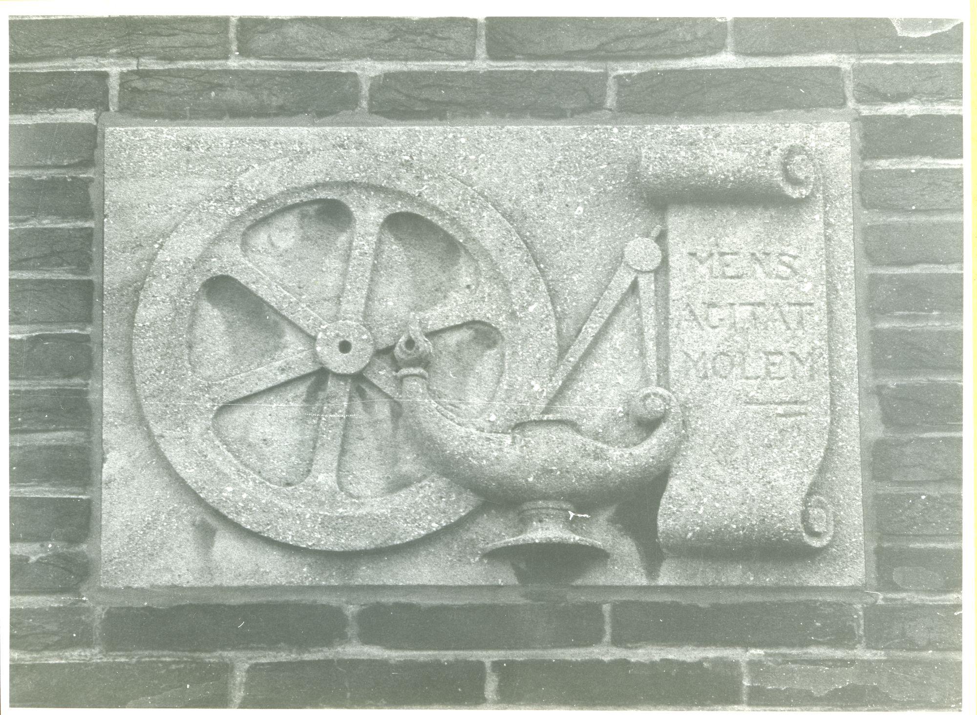 Wondelgem: Klimoplaan 67: Gevelsteen, 1979