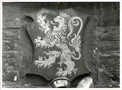 Gent: Hoogpoort: St-Jorishof: Cartouche: wapenschild van Gent, 1979