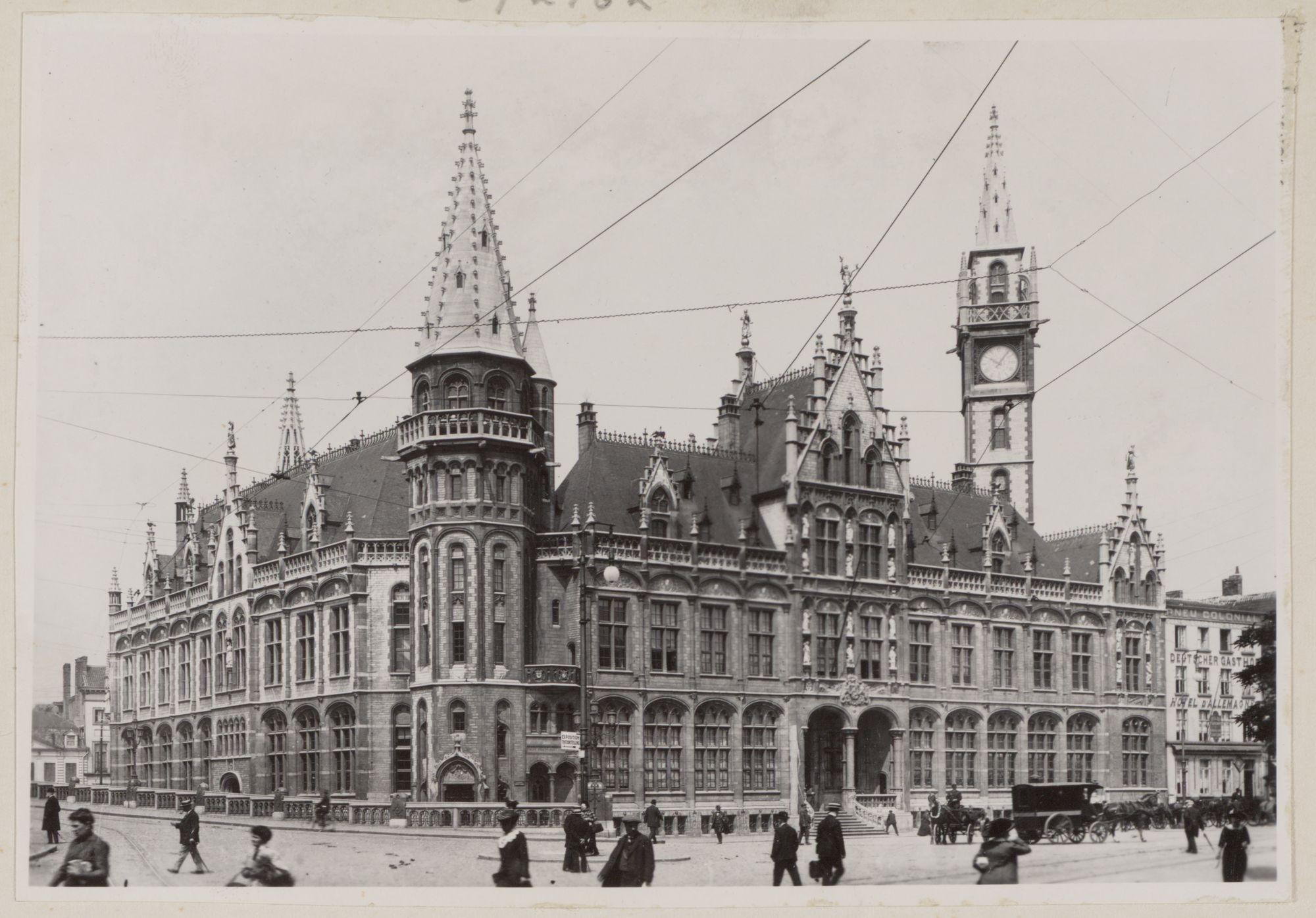 Gent: Hoofdgevel postgebouw, Korenmarkt