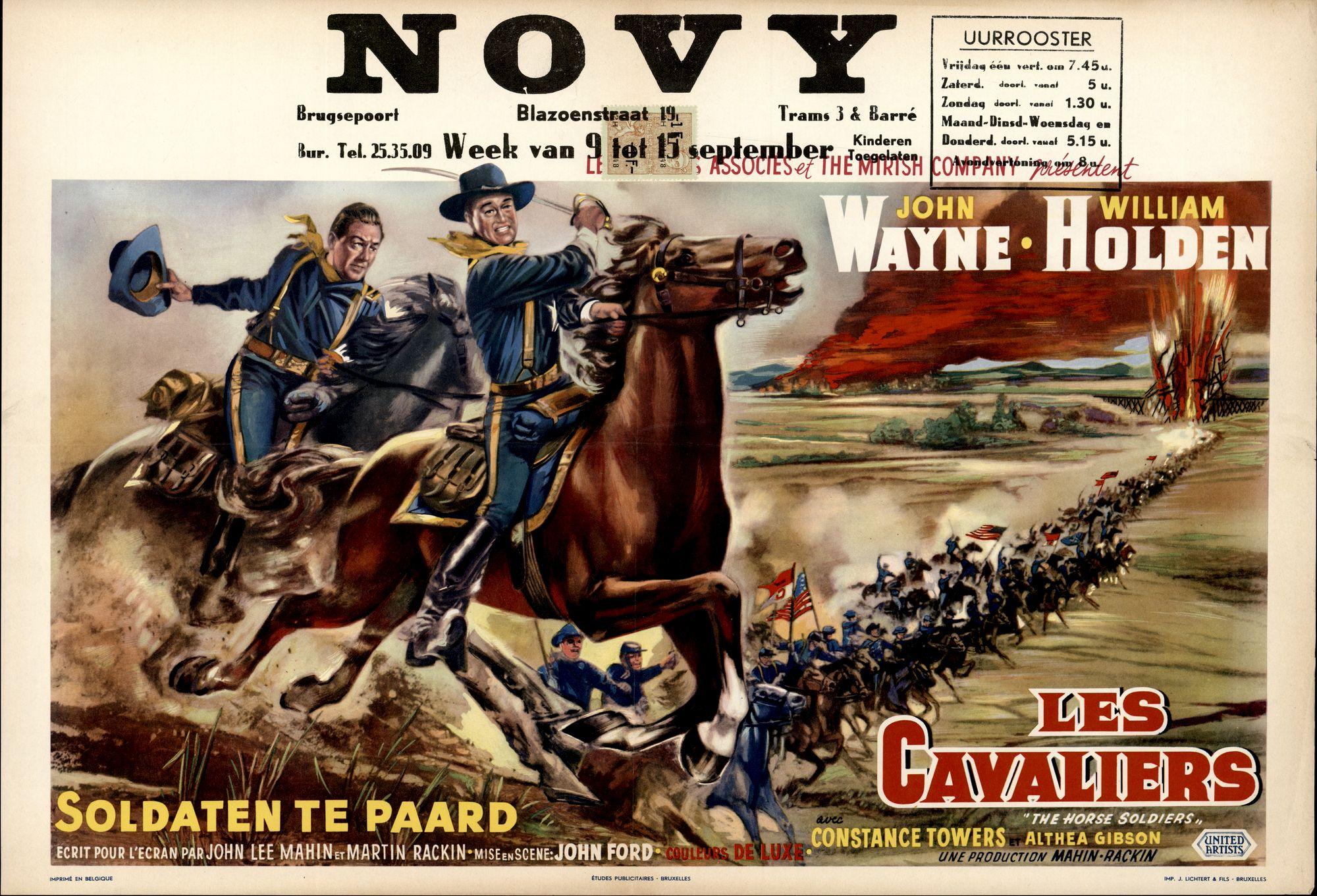 Les Cavaliers | Soldaten te Paard | The Hors Soldiers, Novy, Gent, 9 - 15 september 1960