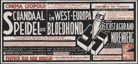 Schandaal in west-Europa. Speidel de bloedhond (film 1), Van Reichstagbrand tot Nurenberg (film 2), Vrouwen zijn geen engelen (film 3), Cinema Leopold, Gent, 26 februari - 4 maart 1959