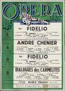 Fidelio, Ludwig van Beethoven. André Chenier, Umberto Giordano. Dialogues des Carmelites, Francis Poulenc. Koninklijke Opera Gent, Gent, 4 november - 8 november 1959