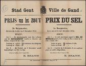 Stad Gent, Prijs van het zout | Ville de Gand, Prix du sel.