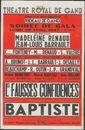 Les Fausses confidences et Baptiste, Théâtre Royal de Gand, (Opera), Gent, 1947