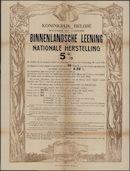 Koninkrijk België, Ministerie van Financiën, Binnenlandsche leening van nationale herstelling 5 %