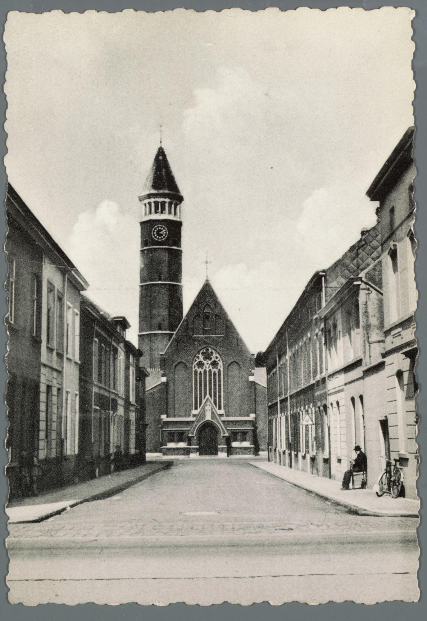 Gentbrugge: Sint-Eligiusstraat en Sint-Eligiuskerk