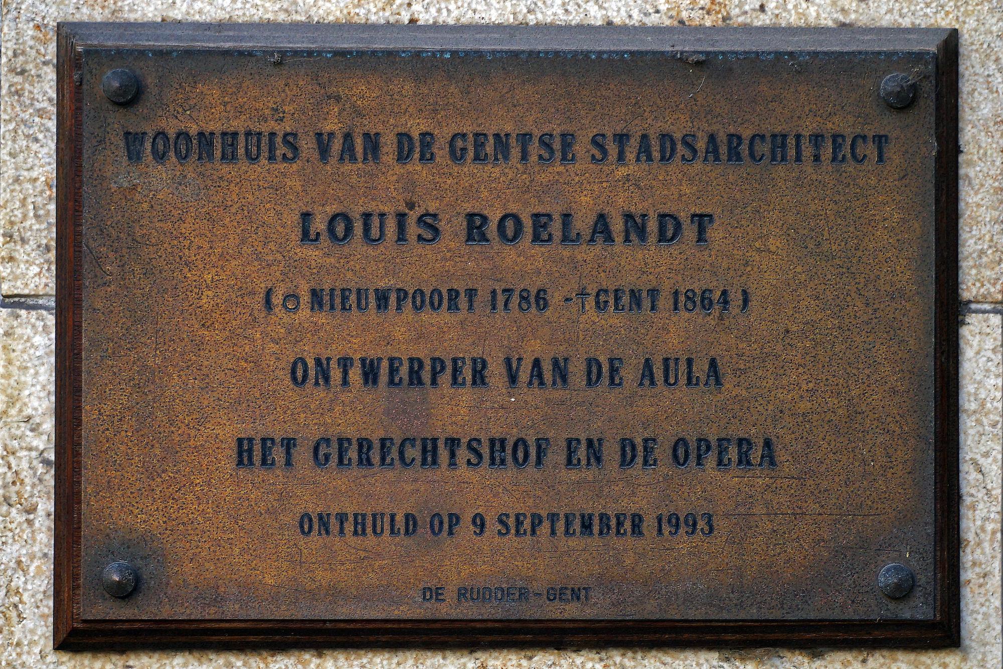 Gedenkplaat - Louis Roelandt