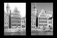 Gent: Graslei: Huis Vrije Schippers, Korenmetershuis en postgebouw