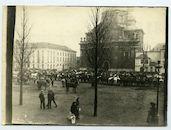 Gent: Sint-Pietersplein: Onze-Lieve-Vrouw Sint-Pieterskerk: paardenkeuring, 1915-1916