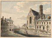 Gent: Predikherenlei, Predikherenbrug en kerk van het Dominicanenklooster