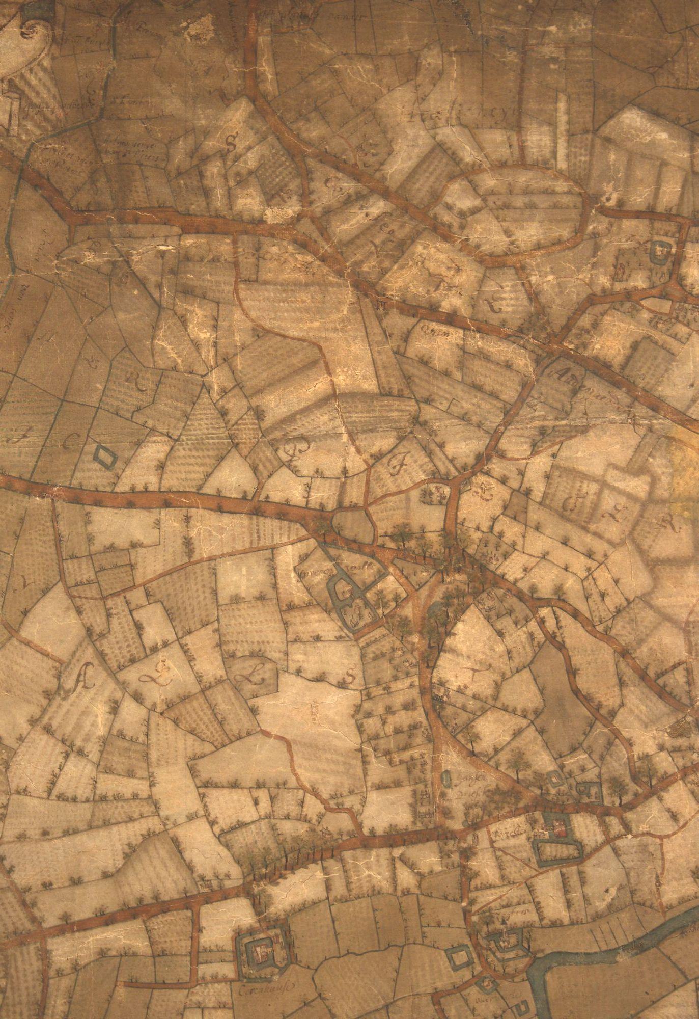 Sint-Pieters-Aaigem en Sint-Pieters-Aalst: kaartdeel 11 (VII) van de Kaart van Gent en het Vrije van Gent afgebakend door de Rietgracht, Jacques Horenbault, 1619