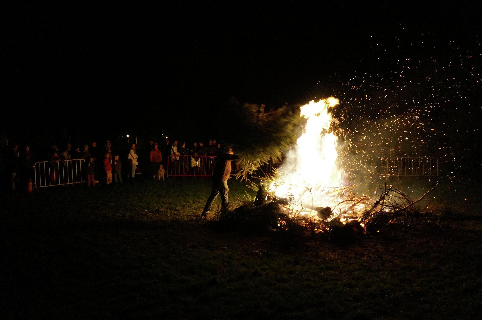 Kerstboomverbranding Mariakerke