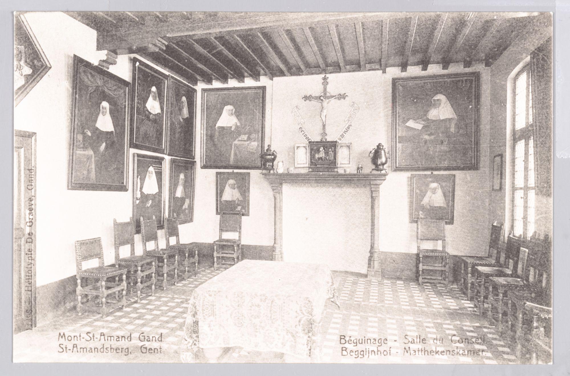 Sint-Amandsberg: Groot Begijnhof: Matthekenskamer (raadszaal)