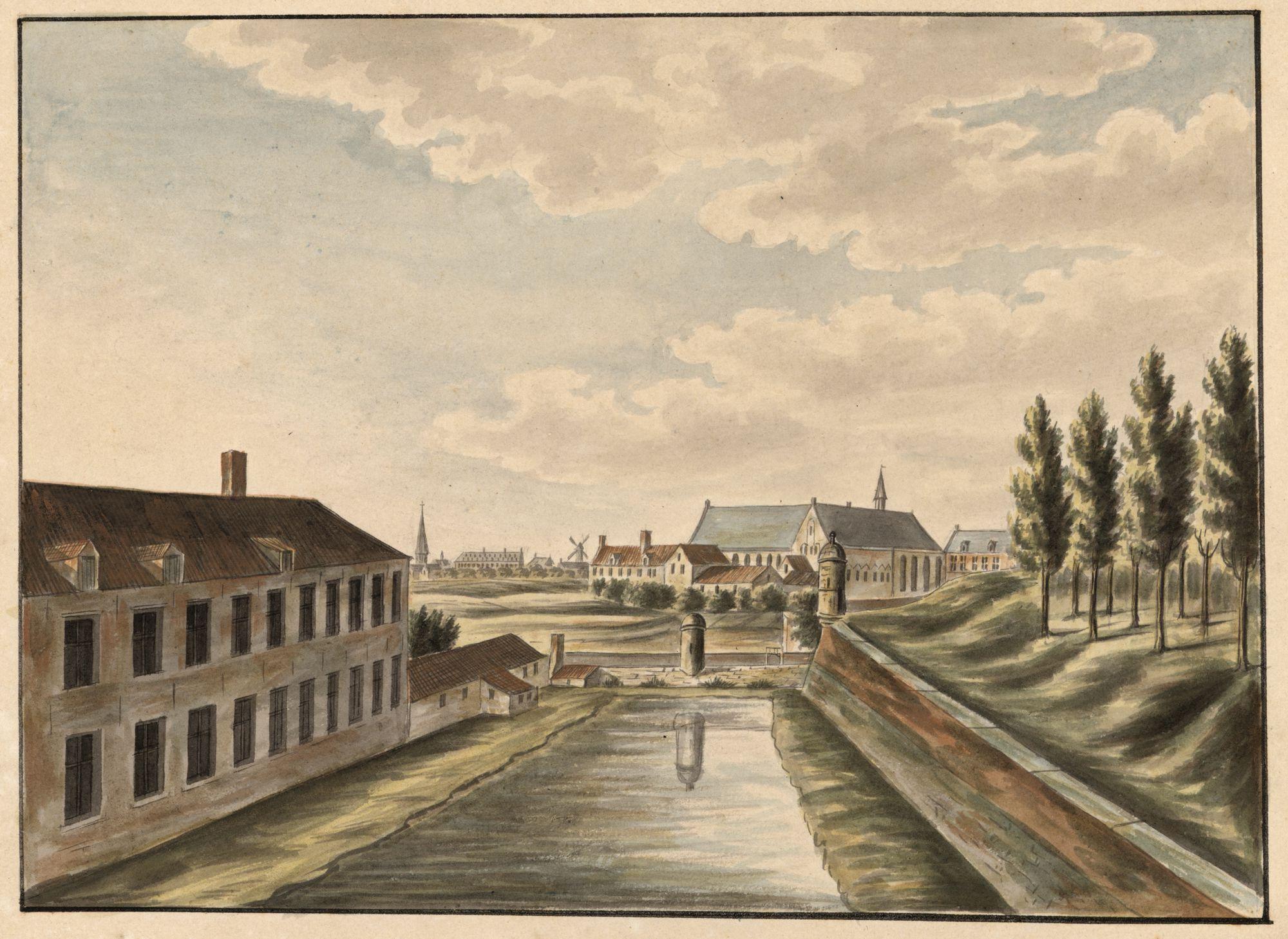 Gent: Bijloke, zicht vanaf de Kortrijkse Poort