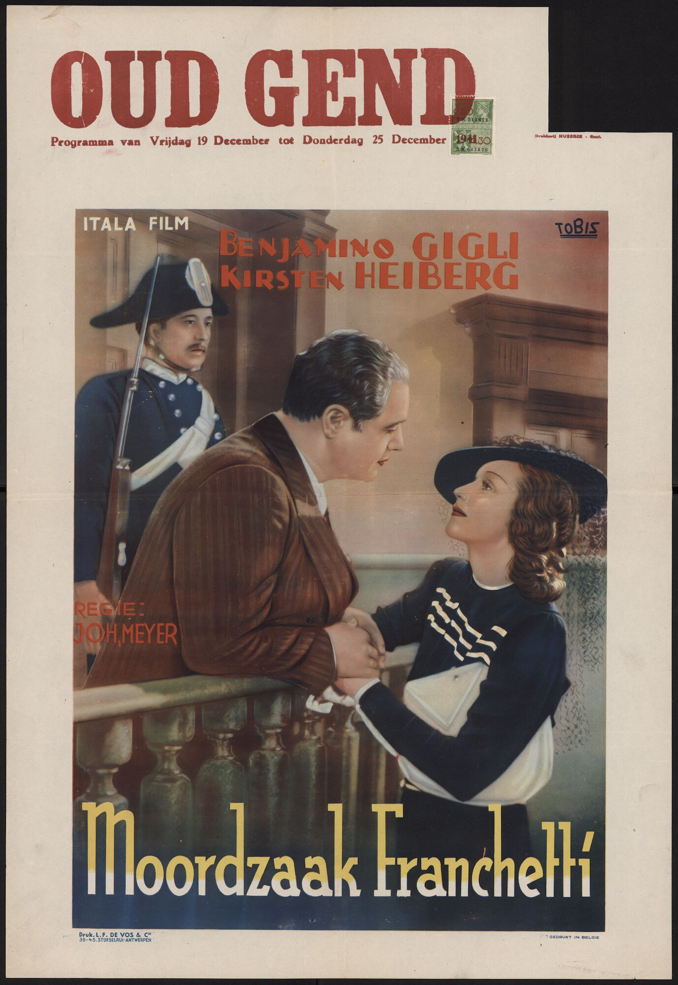 Moordzaak Franchetti, Oud Gend, Gent, 19 - 25 december 1941