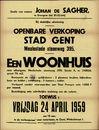 Openbare verkoop Stad Gent, Meulestedesteenweg, nr. 395, een woonhuis, Gent, 24 april 1959