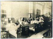 Gent: Koningin Maria Hendrikaplein 2: Flandria Palace Hotel (Kriegslazarett Flandria, Duits krijgshospitaal): ziekenzaal