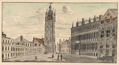 Gent: Botermarkt, Stadhuis en Belfort