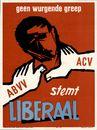 Geen wurgende greep ABVV, ACV, stemt Liberaal. 1961
