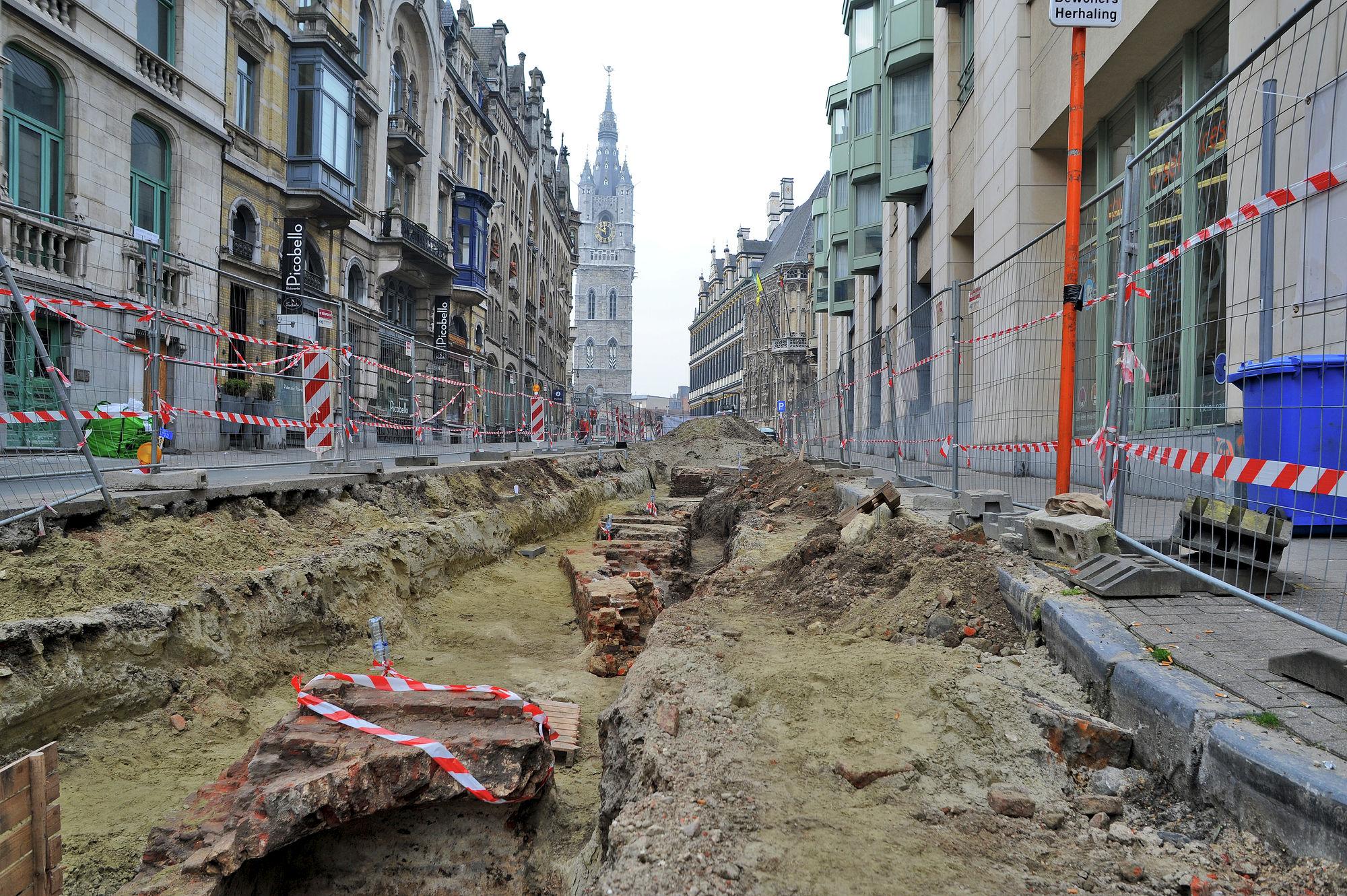 Archeologische opgravingen in de Belfortstraat