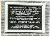 Gent: Leithstraat: Gedenkplaat, 1979