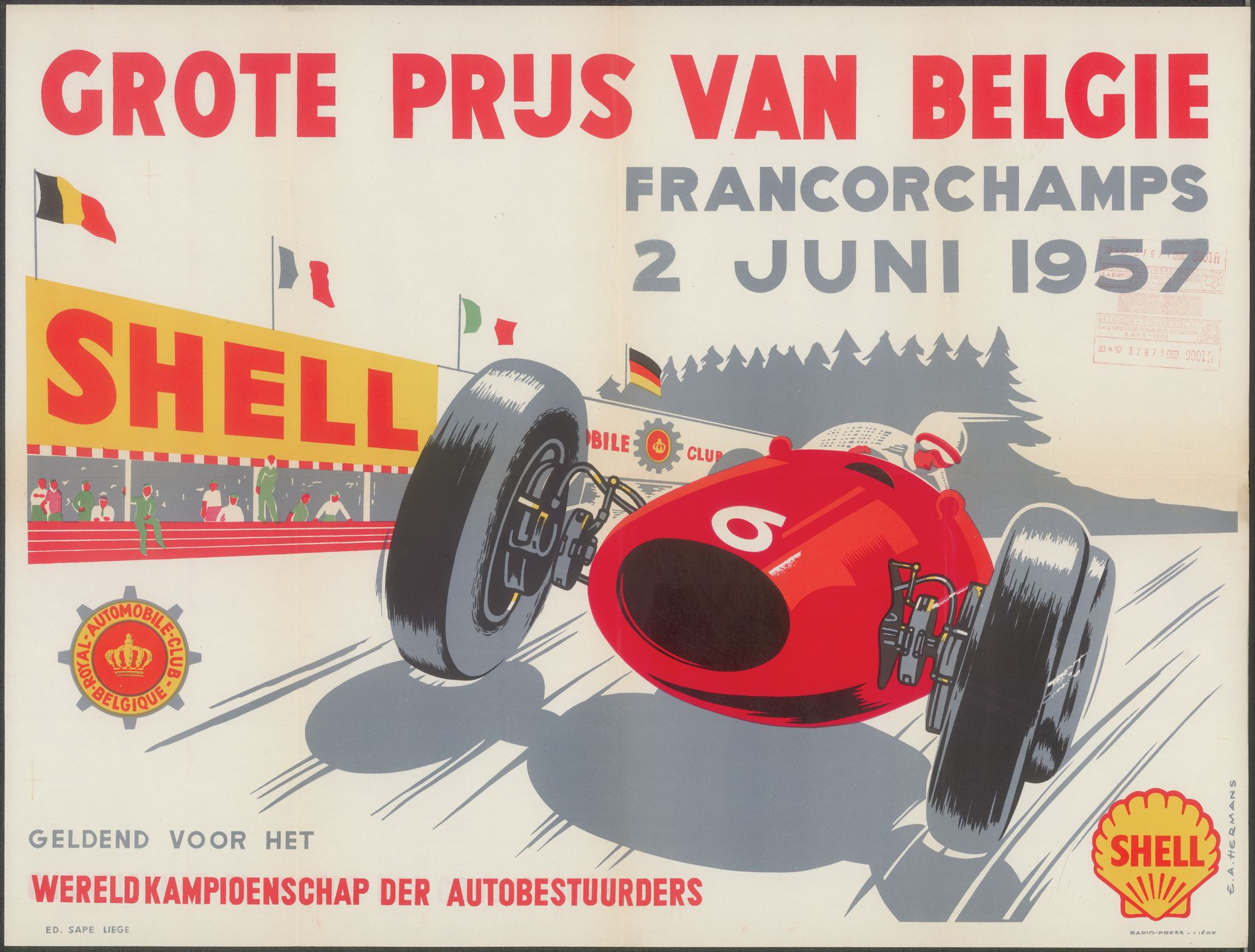 Francorchamps, Grote Prijs van België, te SPA - Francorchamps, 2 juni 1957
