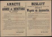 Arrêté relatif à la Détention et au Trafic des Armes et Munitions de Guerre | Besluit betreffende het Bezitten en het Vervoer van Oorlog's Wapens en Ammunitie