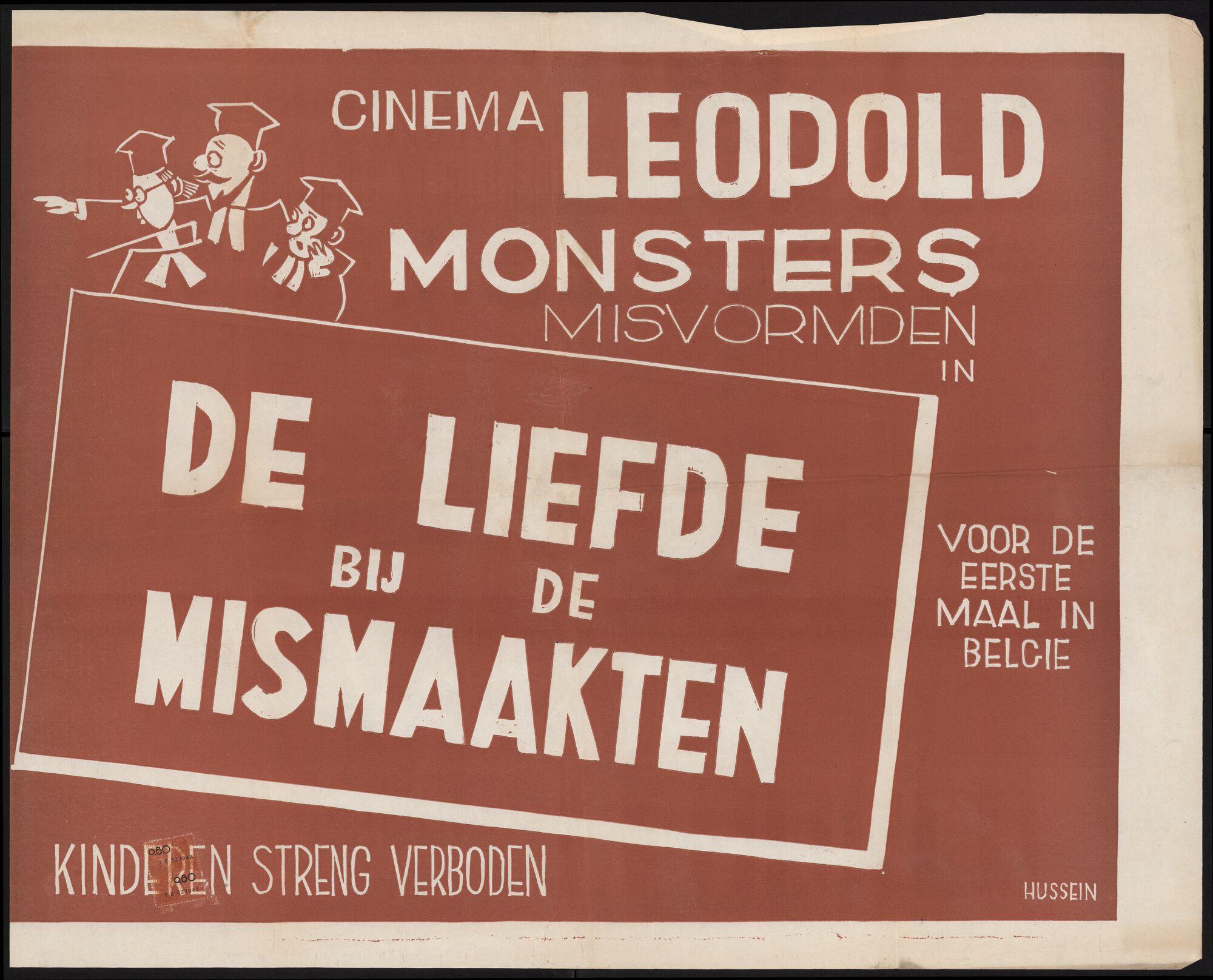 De liefde bij de mismaakten, Cinema Leopold, Gent, juni 1950